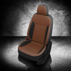 VW Atlas Brown and Black Leather Seats