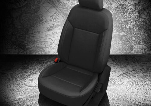 VW Atlas Black Leather Seats