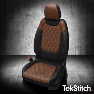 Chevy Trailblazer Brown and Black TekStitch Leather Seats