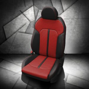 Kia K5 Black and Red Leather Seats