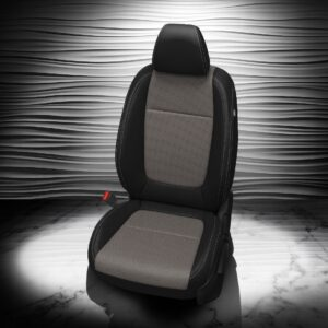 Kia Seltos Gray and Black Leather Seats