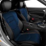 Nissan 370Z Black and Blue Leather Seat Covers