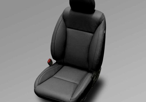 Black Honda Fit Leather Seats