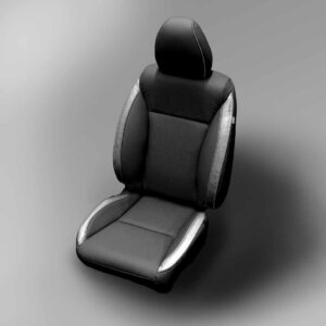 Black and Silver Honda Fit Leather Seats