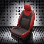 Red and Black Nissan Kicks Leather Seats