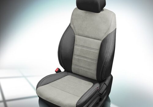 Gray and Black Kia Sorento Leather Seats