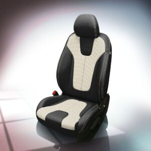 White and Black Hyundai Veloster Leather Seats