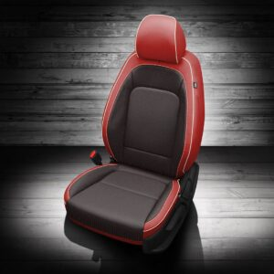 Black and Red Hyundai Venue Leather Seats