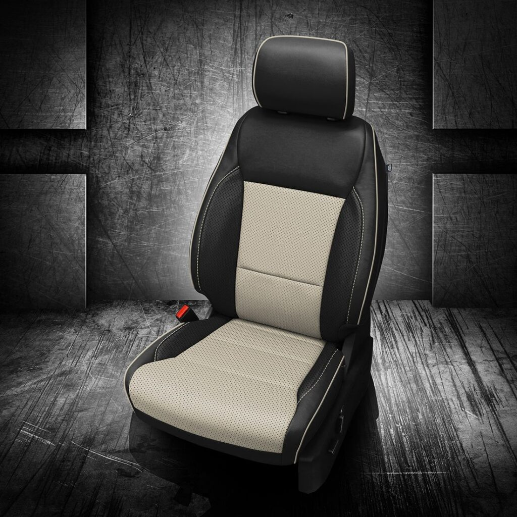 Ford F-150 Black and White Leather Trim