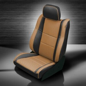 Jeep Grand Cherokee Brown and Black Leather Seat Trim