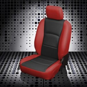 Red and Black Ram 1500 Heavy Duty Truck Seat Covers