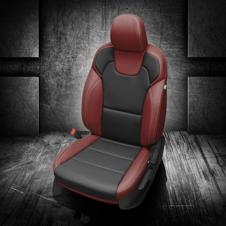 Kia Telluride Red and Black Leather Seats
