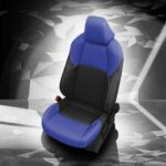 Blue and Black Toyota C-HR Leather Seats