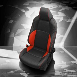 Black and Red Toyota C-HR Leather Seats