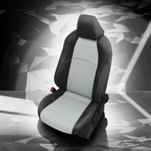 White and Black Toyota C-HR Leather Seats