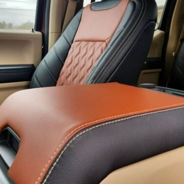 Ford F-150 Orange and Black Seat Covers
